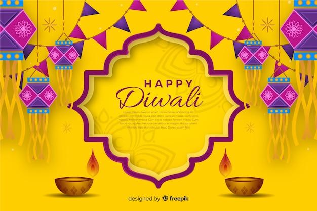 Diwali-hintergrund in der hand gezeichnet