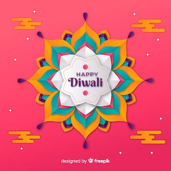 Diwali-hintergrund in der papierart