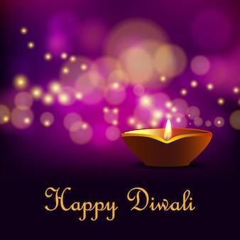 Diwali hintergrund mit bokeh-effekt