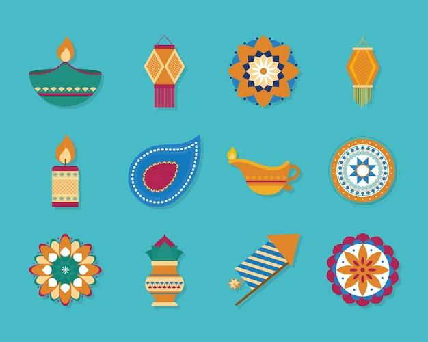 Diwali-icon-set