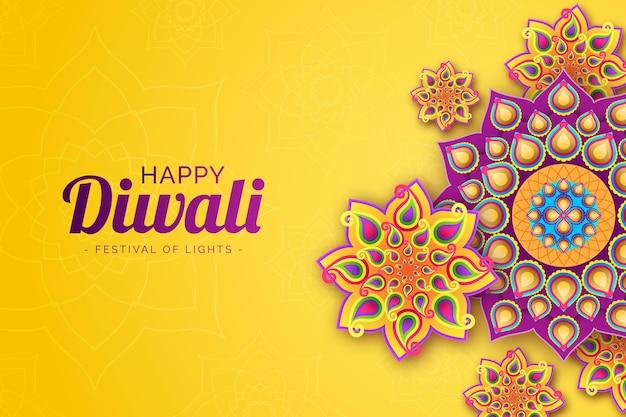 Diwali im papierstil feiern