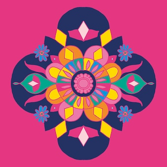 Diwali indisches rangoli-design
