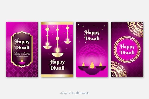 Diwali instagram geschichten sammlung