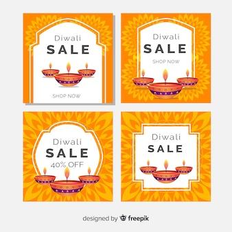 Diwali instagram kerzenpfostenansammlung