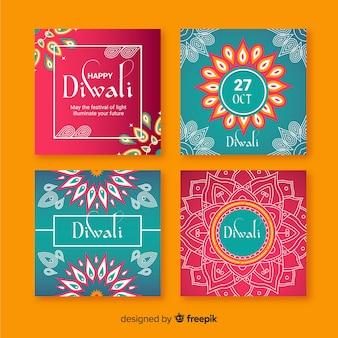 Diwali instagram post sammlung