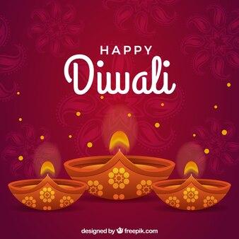 Diwali kerze hintergrund