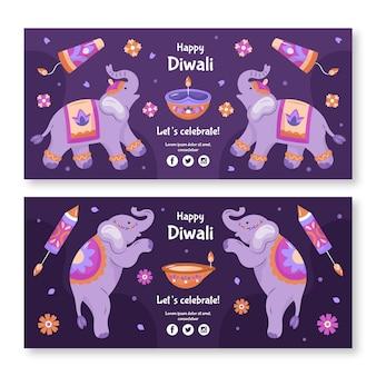 Diwali konzept banner