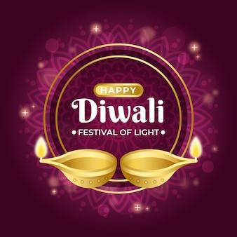 Diwali-konzept im flachen design