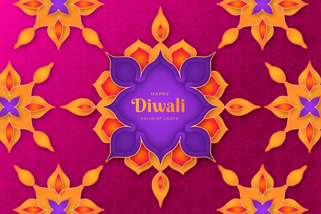 Diwali-konzept im papierstil