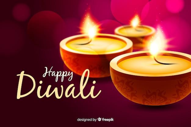 Diwali-konzept mit realistischem hintergrund