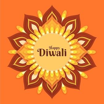 Diwali kulturveranstaltung im papierstil