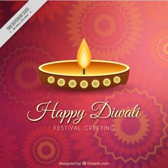 Diwali ornamentalen hintergrund mit kerze