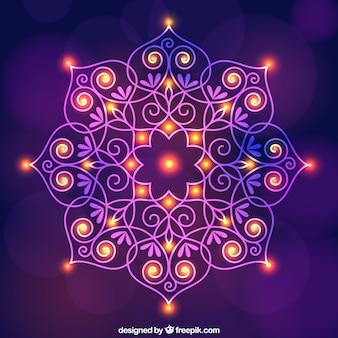 Diwali ornamentalen hintergrund