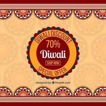 Diwali rabatt hintergrund