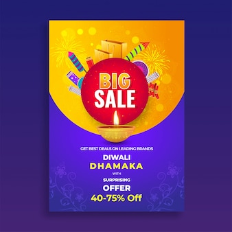Diwali sale flyer