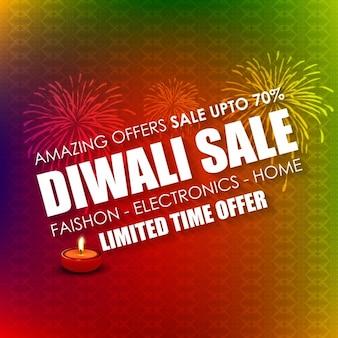 Diwali sale-karte mit hintergrund