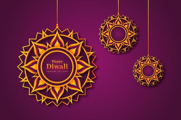 Diwali-veranstaltung im papierstil
