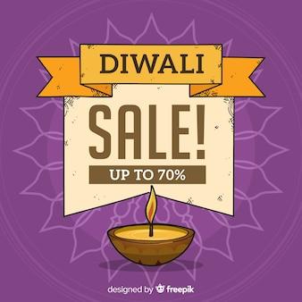 Diwali verkauf hintergrund vorlage