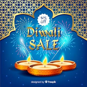 Diwali verkauf hintergrund