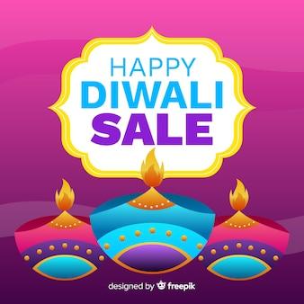 Diwali verkauf in flacher bauform