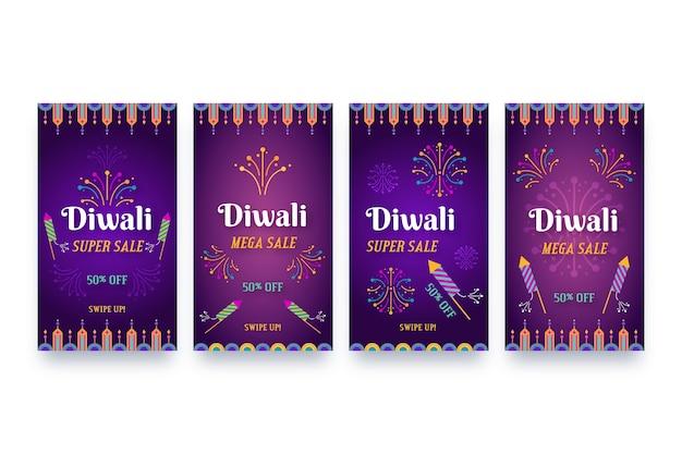 Diwali verkauf instagram geschichten sammlung