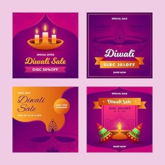 Diwali verkauf instagram post sammlung
