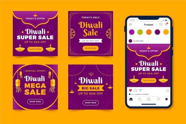 Diwali verkauf instagram post