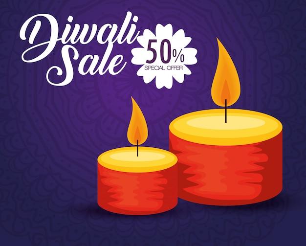 Diwali verkaufshintergrund