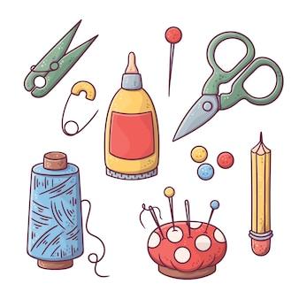 Diy kreativwerkstatt mit nähwerkzeugen