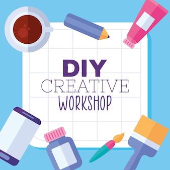 Diy kreativworkshop schriftzug