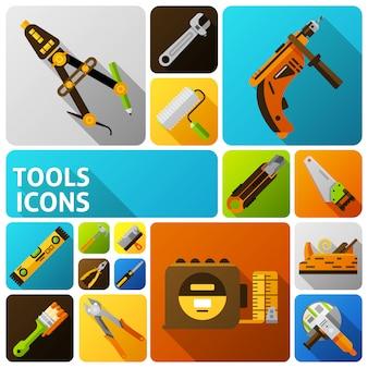 Diy werkzeuge icons