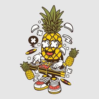 Dj ananas cartoon