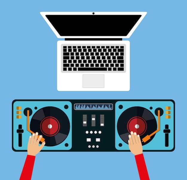 Dj elektronische musikparty