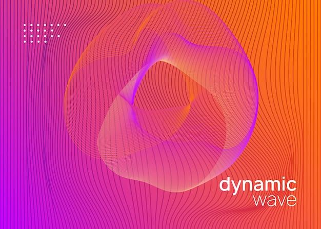 Dj-event. dynamisch fließende form und linie. helles einladungslayout für diskotheken. neon-flyer für dj-events. techno-trance-party. electro-dance-musik. elektronischer klang. clubfest-plakat.