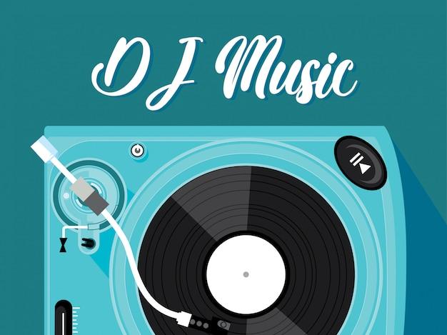 Dj-musik-blau-hintergrund