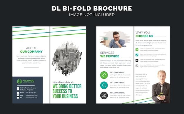 Dl bi fold broschüren vorlage