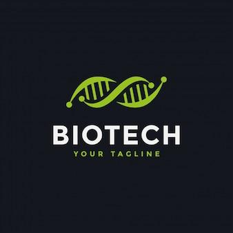 Dna genetische logo-design-vorlage