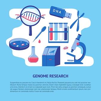 Dna-genom-forschungsschablone