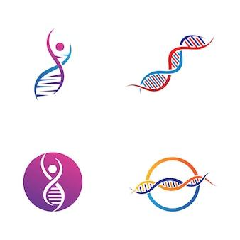 Dna-logo-vektor-illustration-vorlagen-design