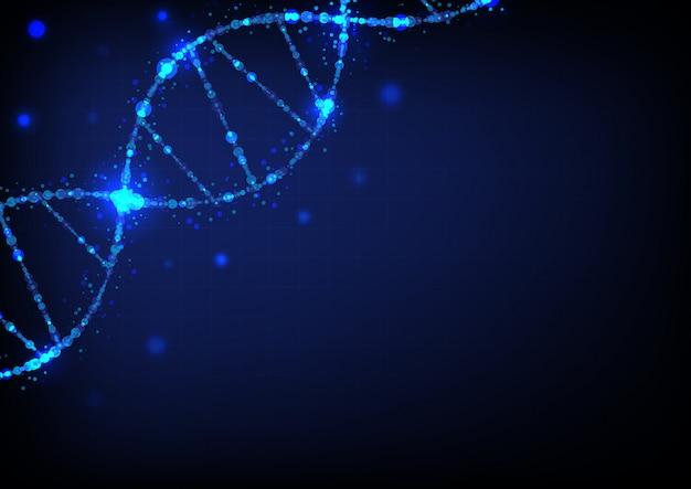Dna-sciencefictionwissenschaftszusammenfassungs-hintergrundvektor