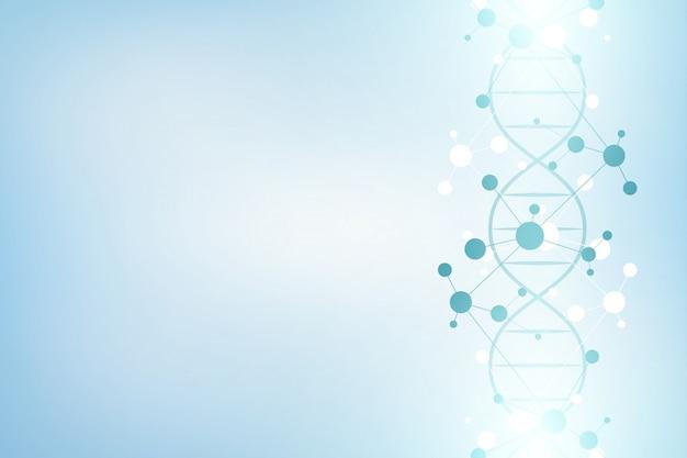 Dna-strang und molekülstruktur. gentechnik oder laborforschung