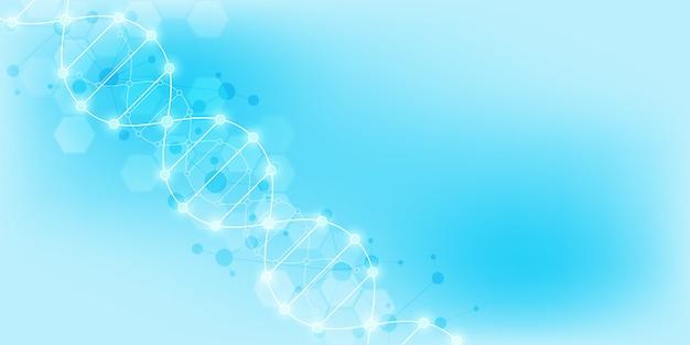 Dna-stranghintergrund und gentechnik oder laborforschung.