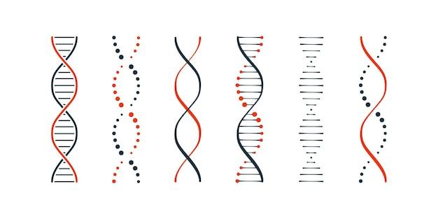 Dna-symbole setzen einfache illustration