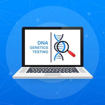 Dna-test, genetisches diagnosekonzept. gentechnisches konzept.
