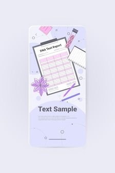 Dna-testbericht forscher, der experimente im labor macht dna-tests genetisches diagnosekonzept