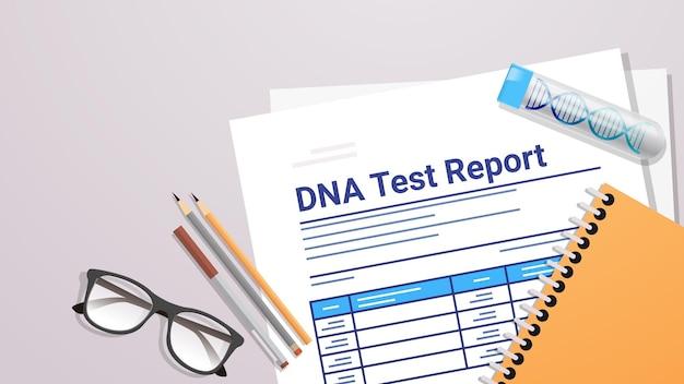 Dna-tests berichten über medizinische behandlungsforschung und tests in der klinik clinic