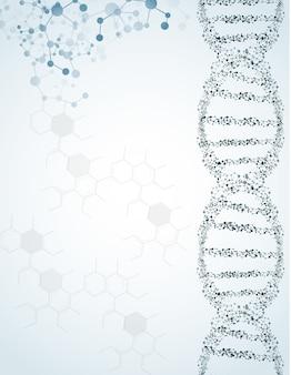 Dna und moleküle auf lokalisiertem hintergrund