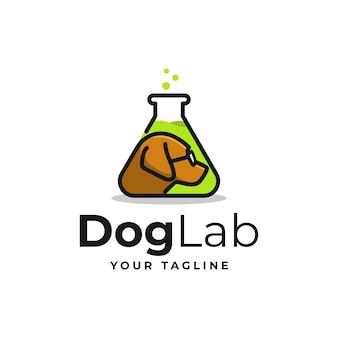 Dog lab logo vorlage