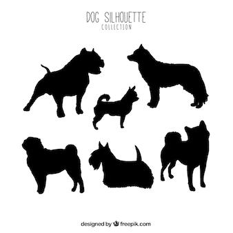 Dog silhouette sammlung