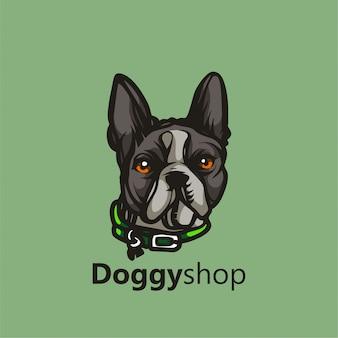Doggy shop maskottchen logo